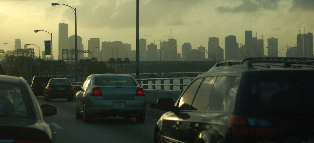 Our car centric life in Miami breeds congestion - Image courtesy Alejandro Herrera