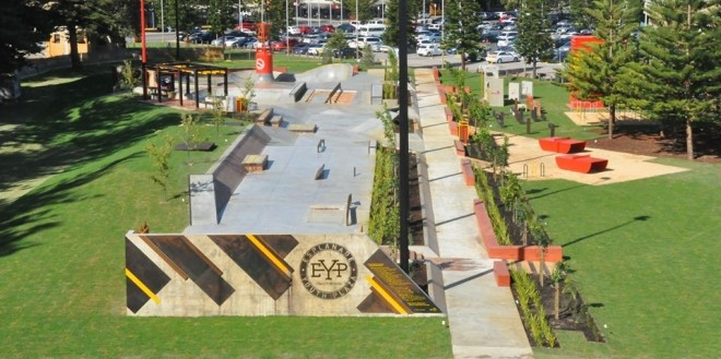 A skatepark in Australia, perfect for teens - Image courtesy Project for Public Spaces