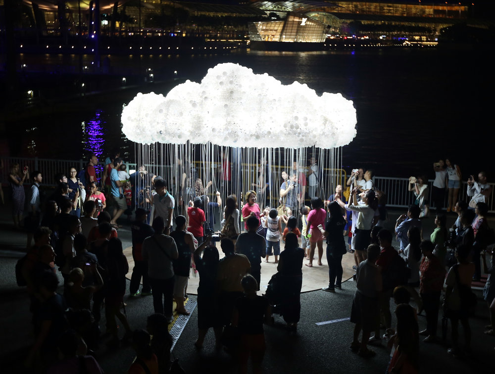 The Cloud at the Belgium Light Festival