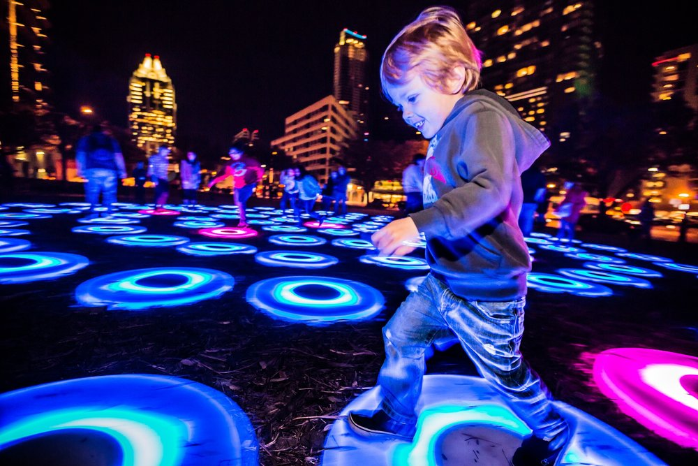 Light circle steps at SXSW