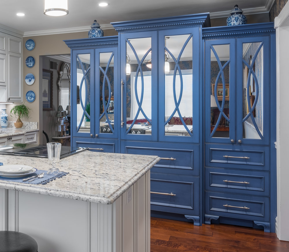 Steven Cabinets Blue Kitchen Piece