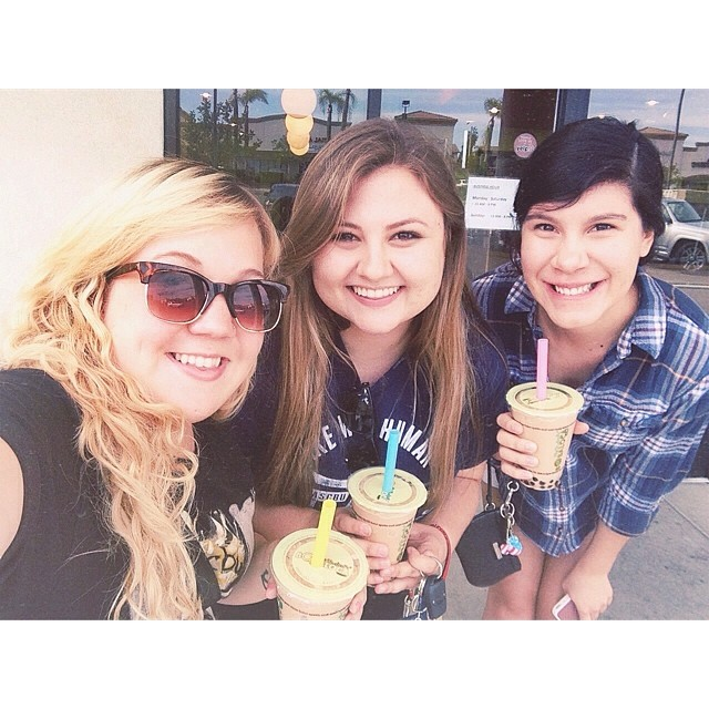 Went to boba to celebrate our last weekend and week together. Going to miss these two this summer! 😍 #theyrereallypretty #waggtdtgal #thejessicas | April 27th, 2014