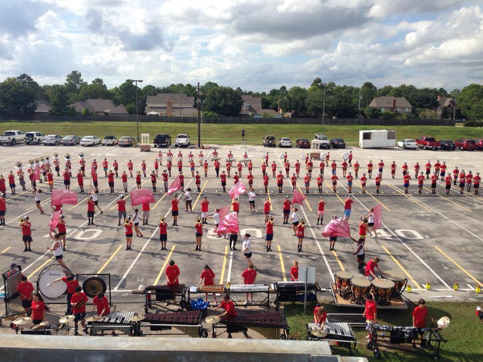 From Summer practice on the parking lot...