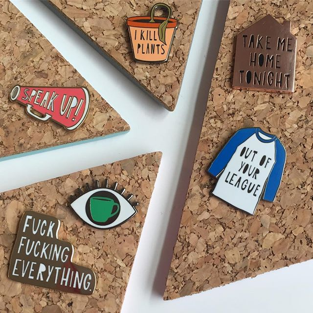 Our newest releases are back in trade show town this week. Find these new pins along with our 15 new card designs (and of course all the old hits) in @crowandcanary Booth 7614 at @ny_now through Feb 7! I'm not in NYC myself - but the Canaries will take good care of you if you're shopping the show!