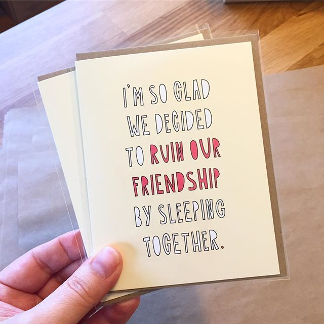Shoutout to the person buying TWO of this new card for Valentine's Day. Whether you're casting a wide net or just lack confidence in your ability to write the perfect inner message and are ordering a backup, I salute you.