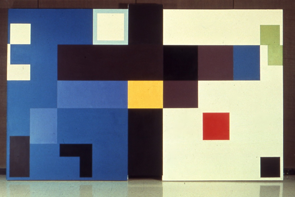 "Etiolation, 1975-6, oil on canvas, 66 1/2""x108"""