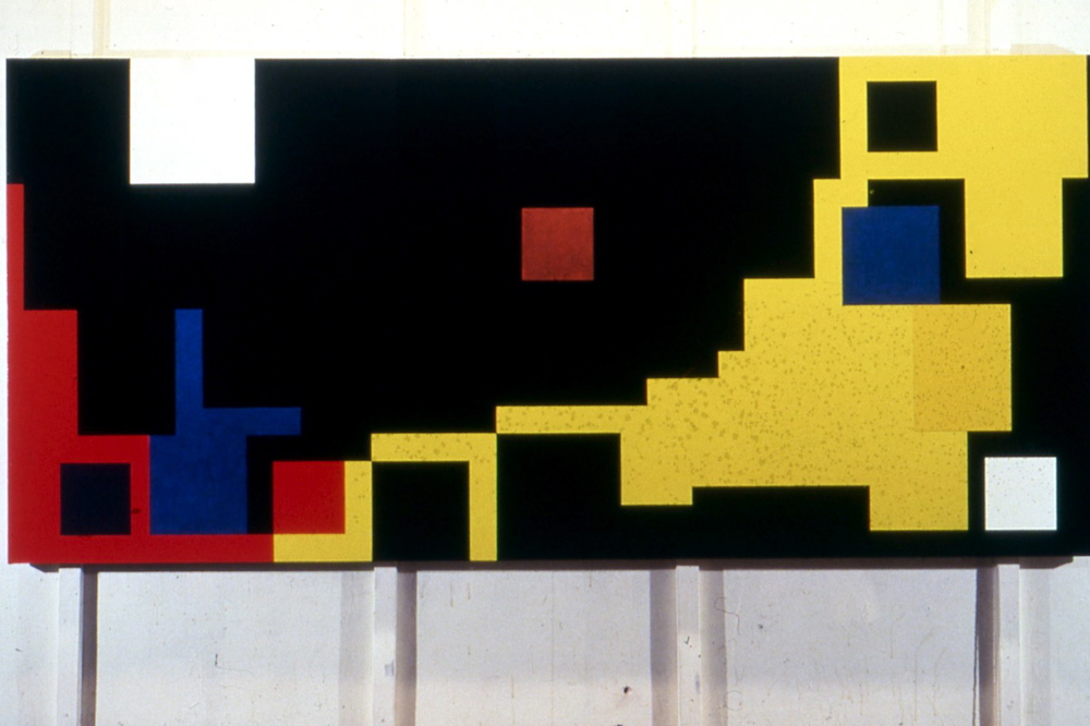 "Eastern Front, 1978, oil on canvas, 56""x121"""
