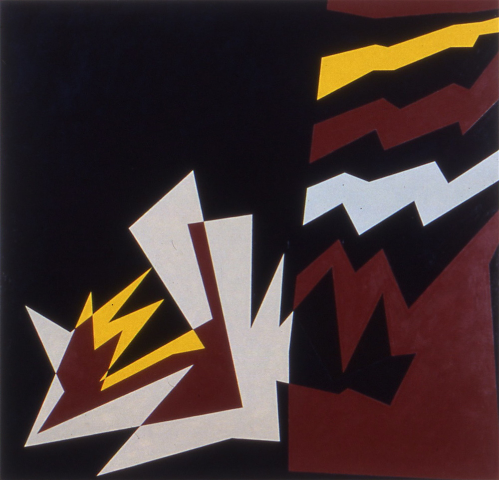 "Wallenstein, 1983-84, oil on canvas, 76""x80"" (collection of Camellia Genovese and David Sullivan)"