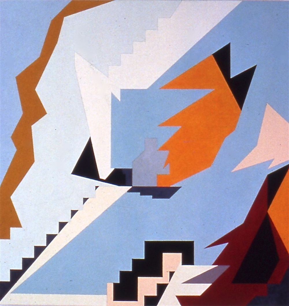 "H. Goes to Rome, 1983, oil on canvas, 51""x48"""