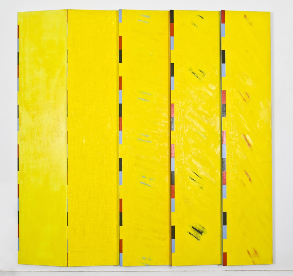 "(multi paneled) Open Warfare, 1991, oil on linen, 95""x95""x4"""