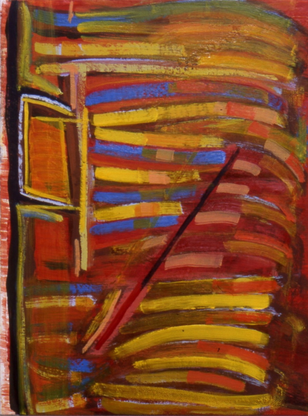 "Untitled, 1999, oil on canvas, 14""x11""x1 1/2"""
