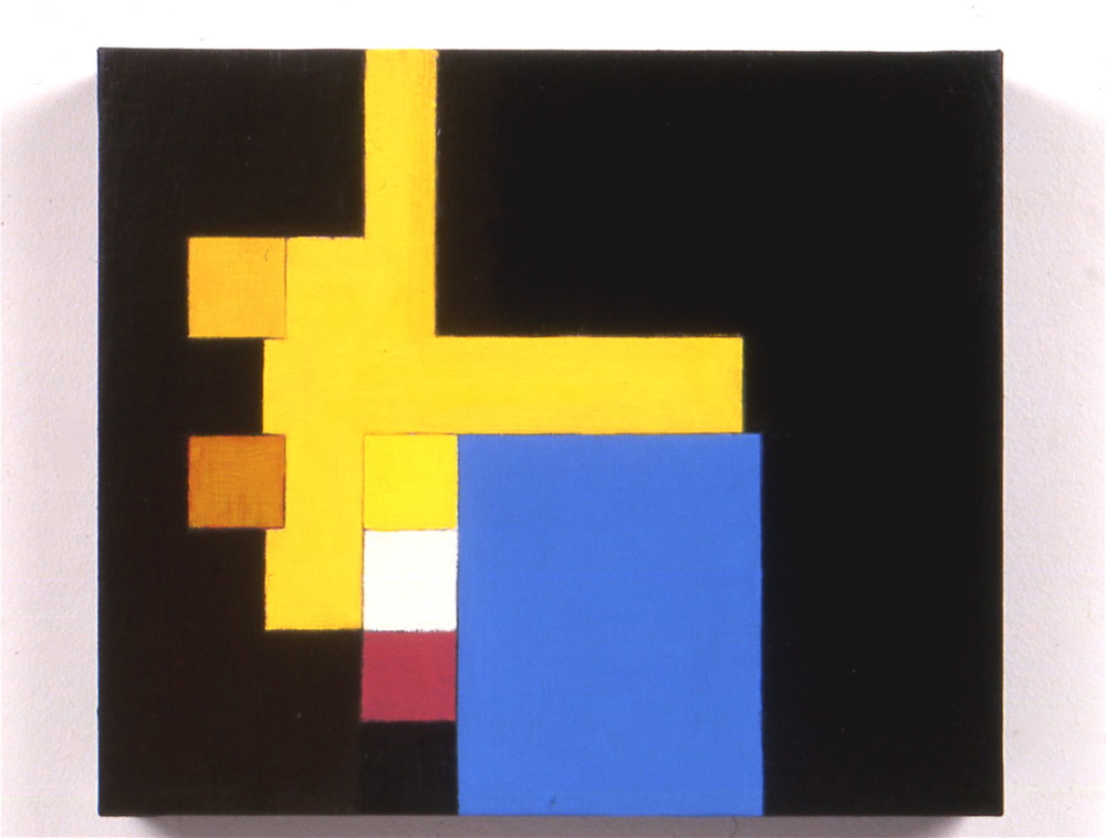 "Untitled, 1999, oil on canvas, 10""x12""x1 1/2"""