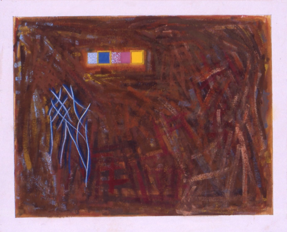 "Untitiled (Sept. 14, 1997), 1997, goauche on paper, 1997, 25 1/4""x33"" (framed)"