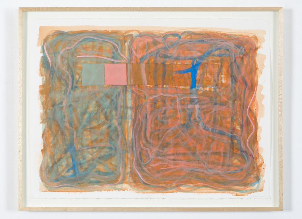 "Untitiled (Sept. 21, 1997), 1997, goauche on paper, 1997, 25 1/4""x33"" (framed)"