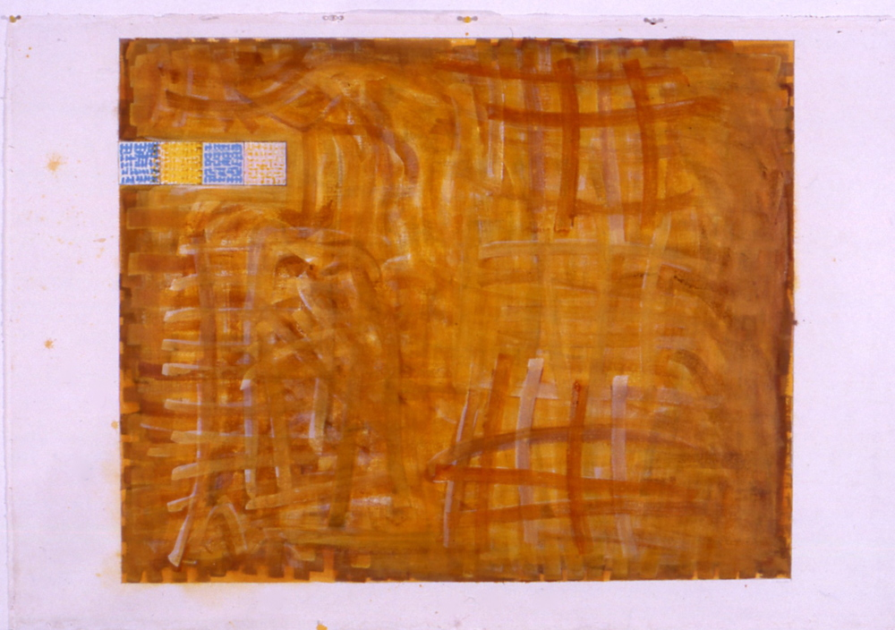 "Air as Surface, 1998, gouache and watercolour on paper, 57 3/4""x63""(framed)"