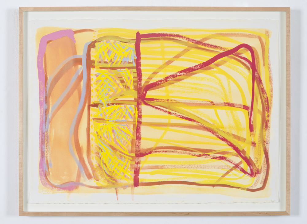 "Untitled (Jan. 1998), 1998, gouache on paper, 25 1/4""x33"" (framed)"