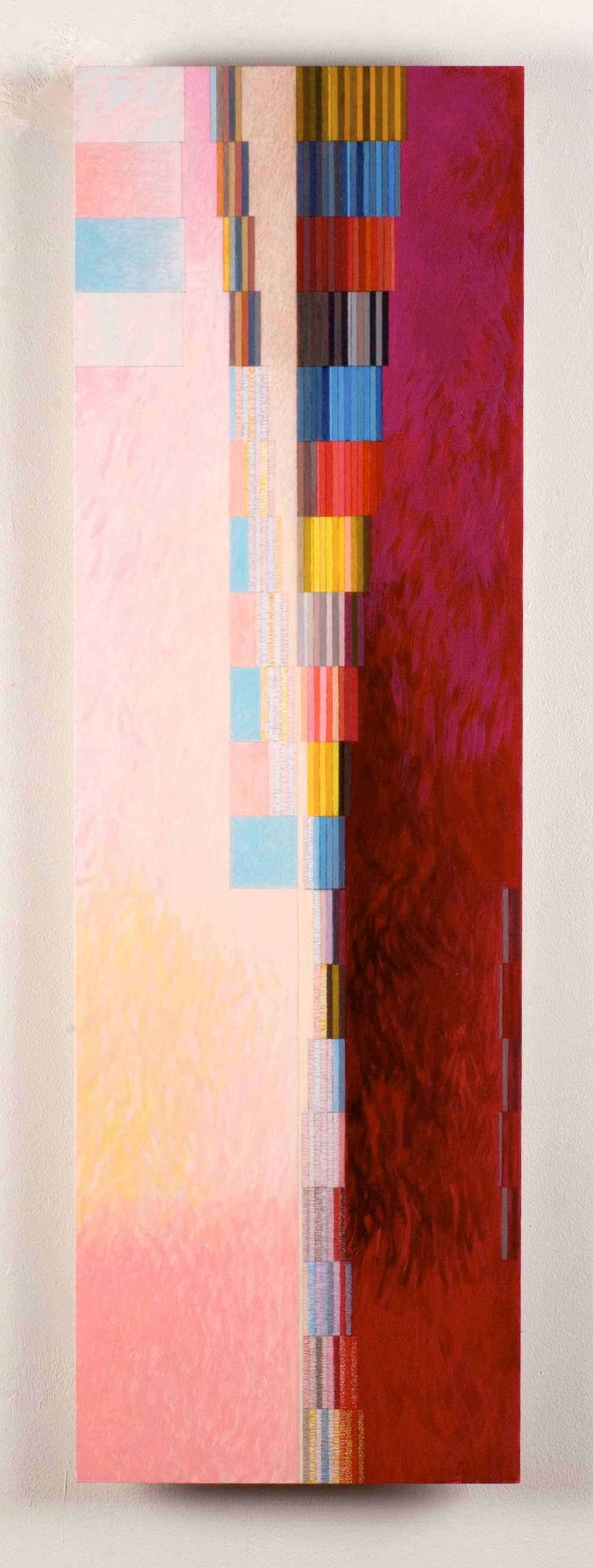 "Kent/Hampshire, 2006, oil on aluminum, 42 3/4""x13 1/2"""