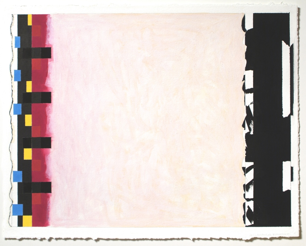 "Untitled... Red Desert, etc. V (PG27), 2002-03, gouache on paper. 20 3_16_ x 27_ (image), 22""x28"" (paper)"