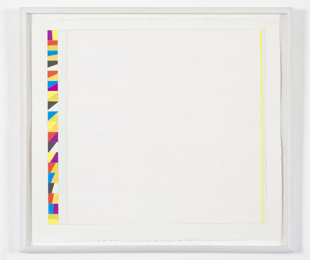 "Untitled (PG 14), 2002, gouache on paper, 20 3/16""x22 5/8""(image), 23 1/8""x26"" (paper)"