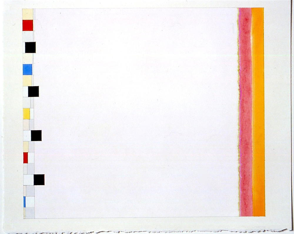 "Untitled (PG17), 2002, gouache and watercolour on paper, 20 3/16""x23 3/4""(image), 23 1/2""x28 3/8"" (paper)"