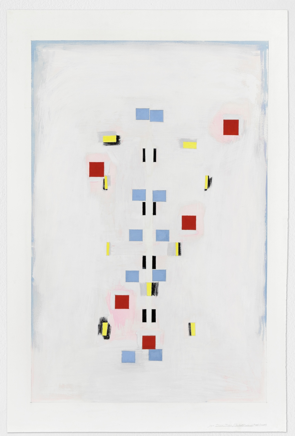 "Mirror, Torso, Jacket, Malevich (PG39), 2004,  gouache on paper, 24""x36"""