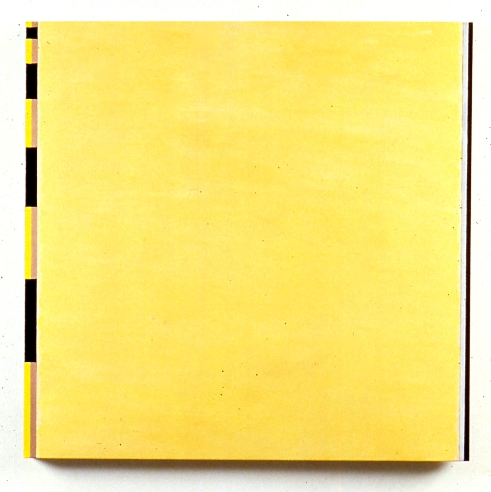 "Russion-American, 1988, oil and flashe on linen, 36 1/2""x36 1/2"""