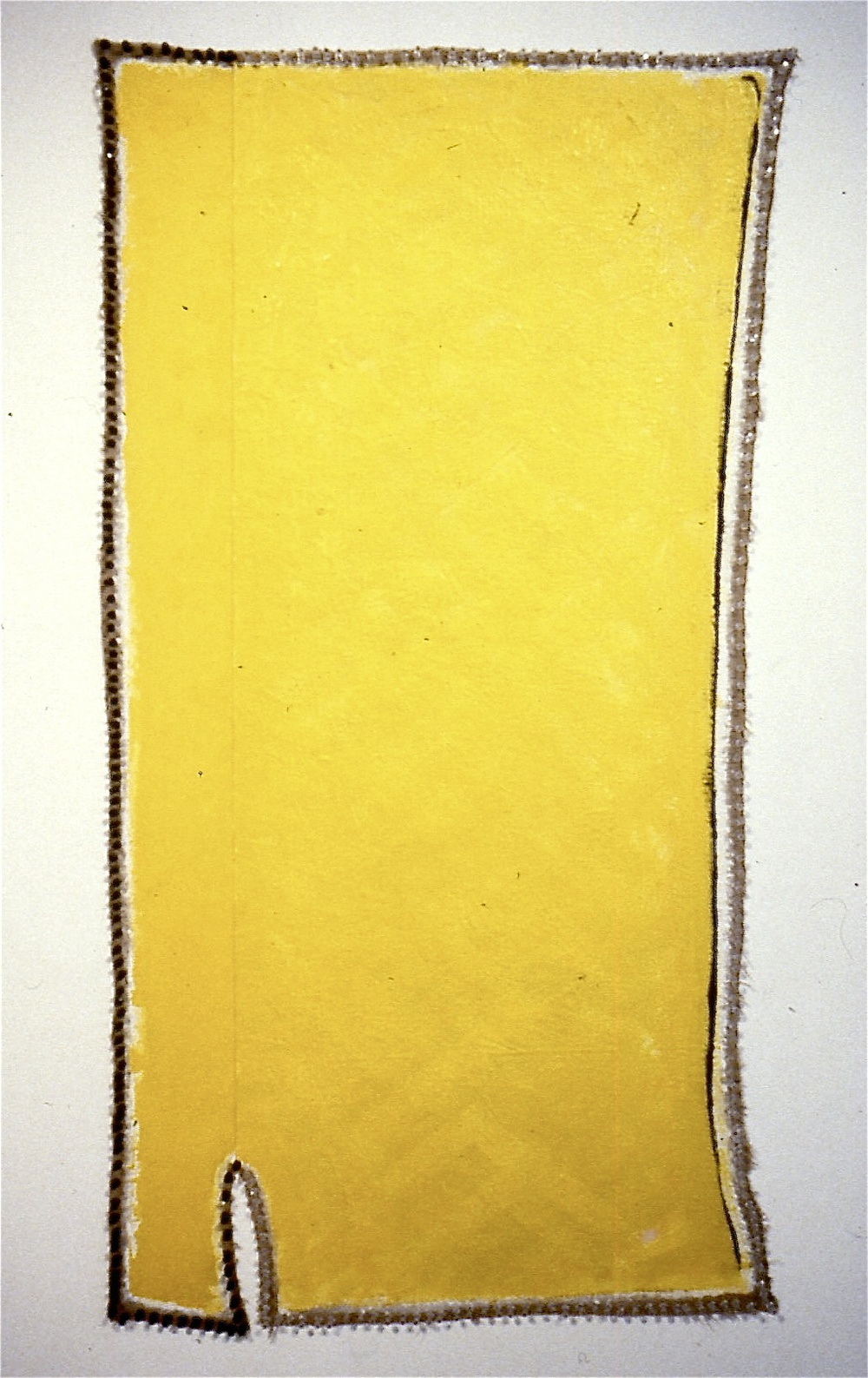 JGR. 1992-3. Divide, Begin Again. oil, flashe, string_linen with pushpins. 61x30_#F1DC.jpg