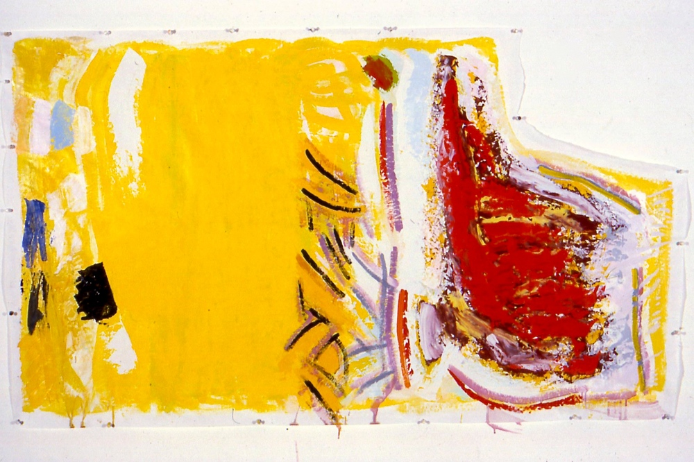 "Dance, 1996, oil on paper, 36""x64"""