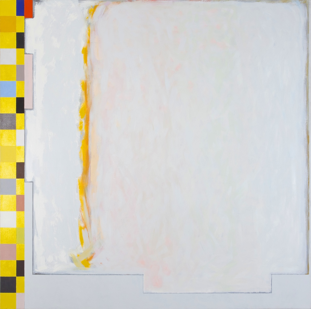 "Grey Genevieve II, 1994, oil on canvas,76""x76"""