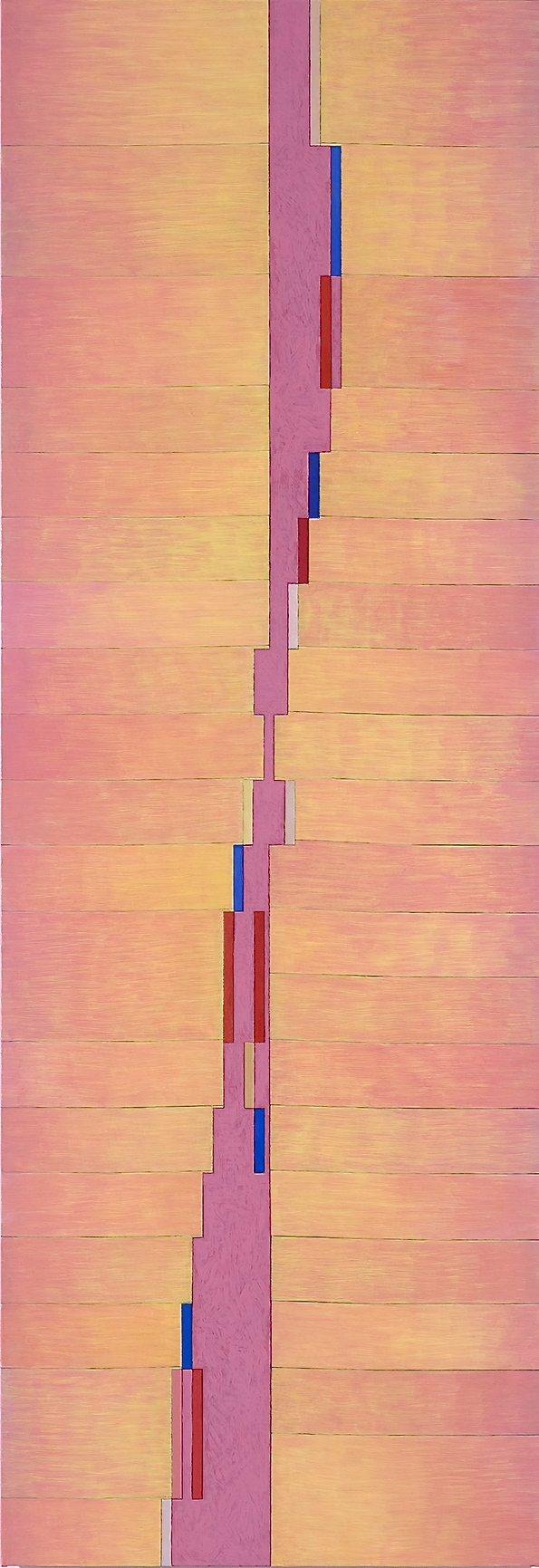 "Up, 2008, oil on linen, 84""x29""x1"""
