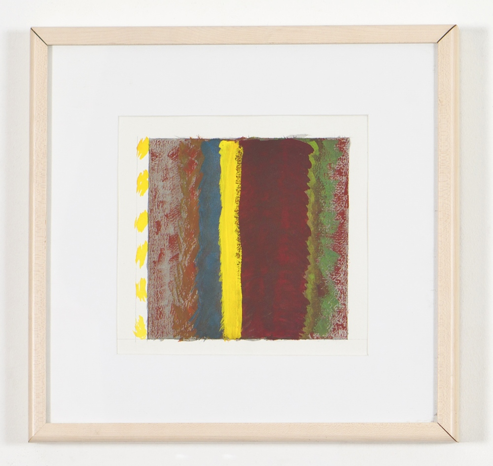 "Untitled, 1999, gouache on paper, 14 1/2""x15""(framed)"