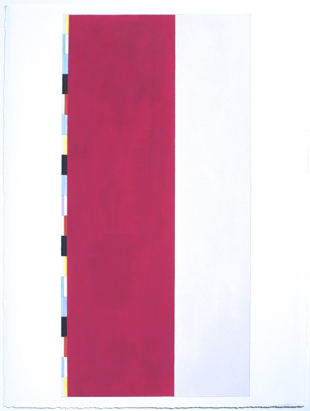 "Red Desert, etc.IV (PG25), 2002, gouache on paper, 28""x24 1/32"" (image), 30""x22 5/8"" (paper)"