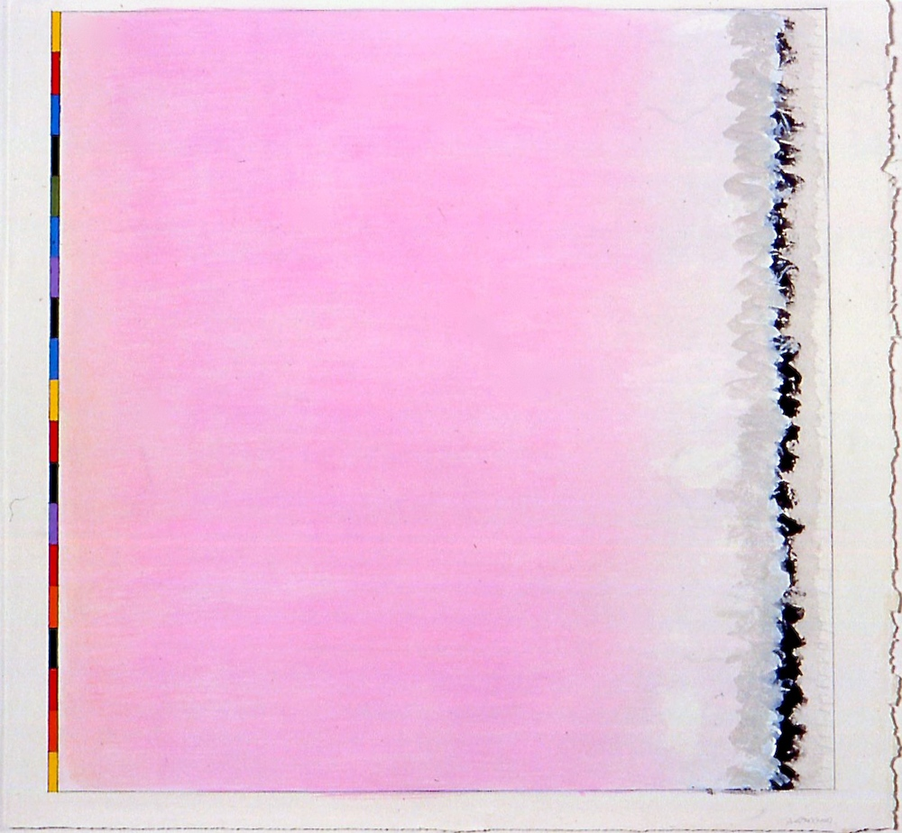 "Untitled (PG8), 2002, gouache on paper, 494mmx500mm (image),  21""x22 1/4""(paper)"
