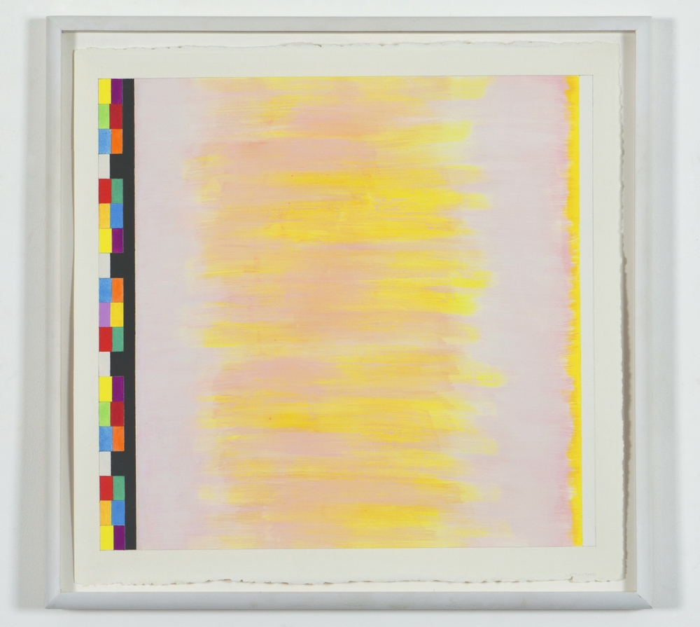 "Untitled (PG16), 2002, gouache on paper, 20 3/16""x21 1/4""(image), 23""x23 5/8""(paper)"