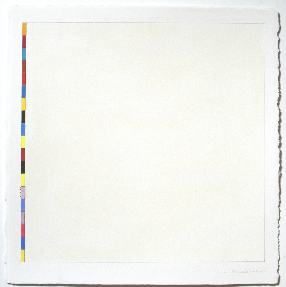 "Untitled (PG35), 2003, gouache on paper, 20 1/8""x20""(image), 23 3/8""x23 1/8""(paper)"""