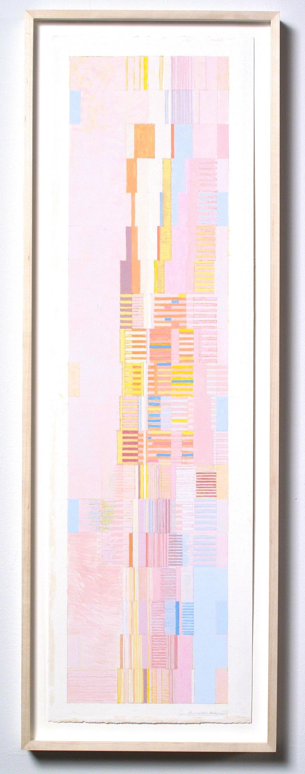 """Euripede's Helen (PG55), 2005, gouache on paper, 28 1/2x12"""""""