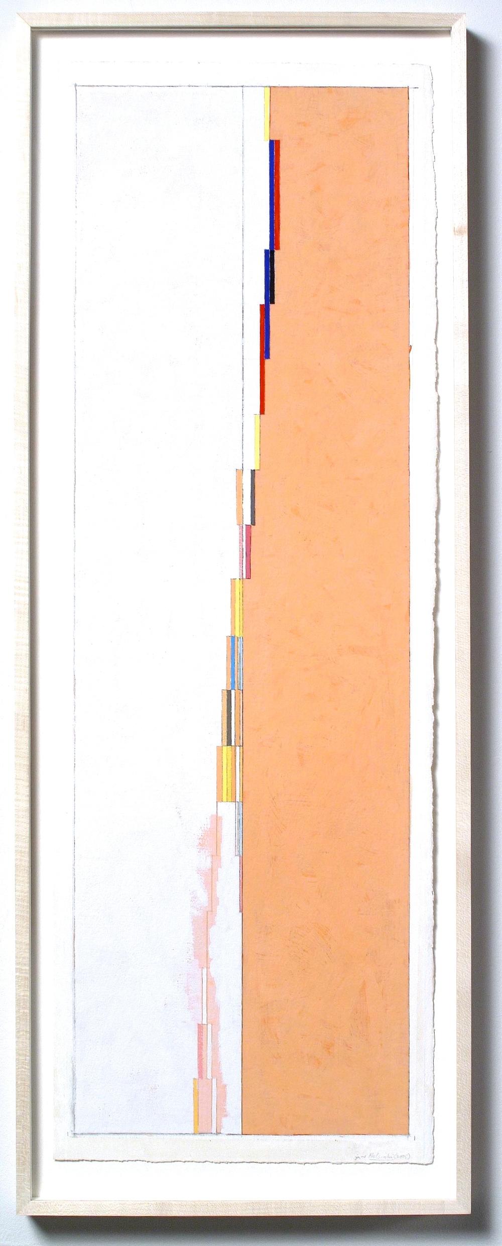 "Helsinki (PG58), 2005, gouache on paper, 32 1/4""x12 1/8"""