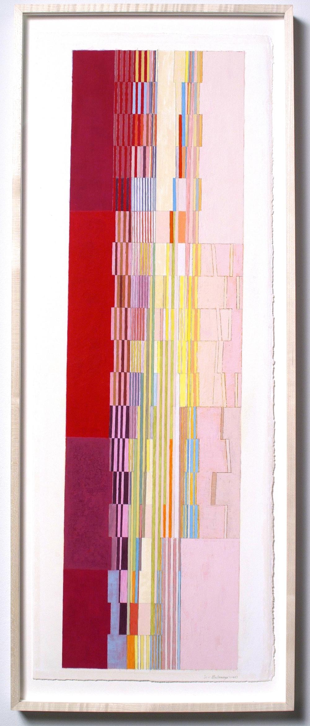 "Bulawayo (PG61), 2006, gouache on paper, 28 ½ x 8"" (image), 29 6/8""x11"" (paper)"