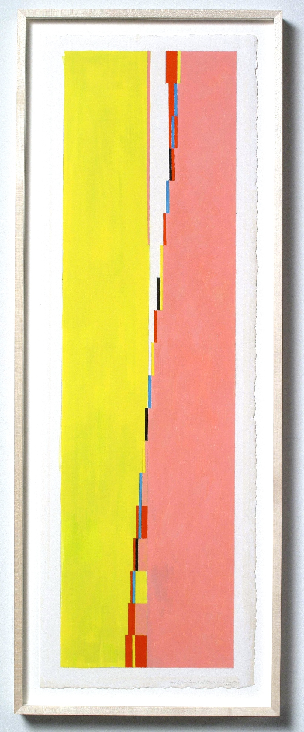 "Standing Sort of Like a Lichtenstein (PG59), 2006, 28 ½"" x 8"" (image), 30x10"" (paper)"