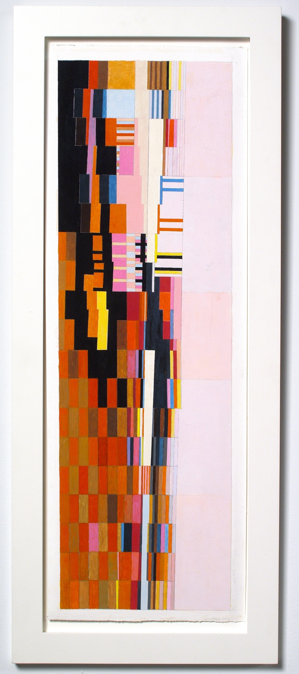 "Vienna (PG62), 2006, gouache on paper, 34""x13 6/8"" (framed)"