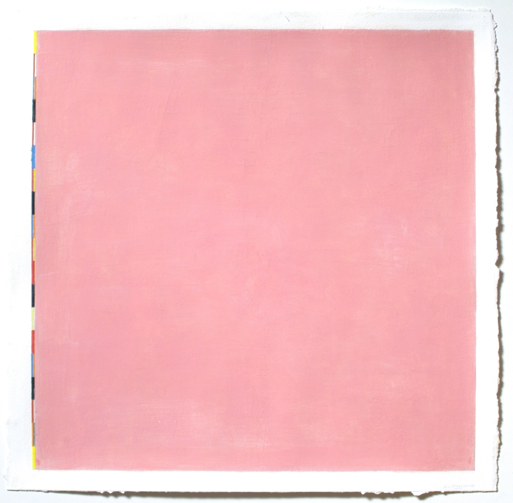 "Untitled (PG26), 2002, gouache on paper, 20 3/16""x20 5/16""(image), 22 1/8""x22 5/8"" (paper)"