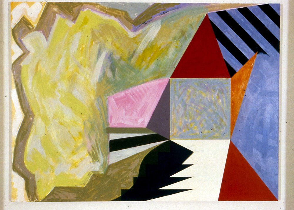 "Lamberhurst, 1985, oil on linen, 56""x77"""