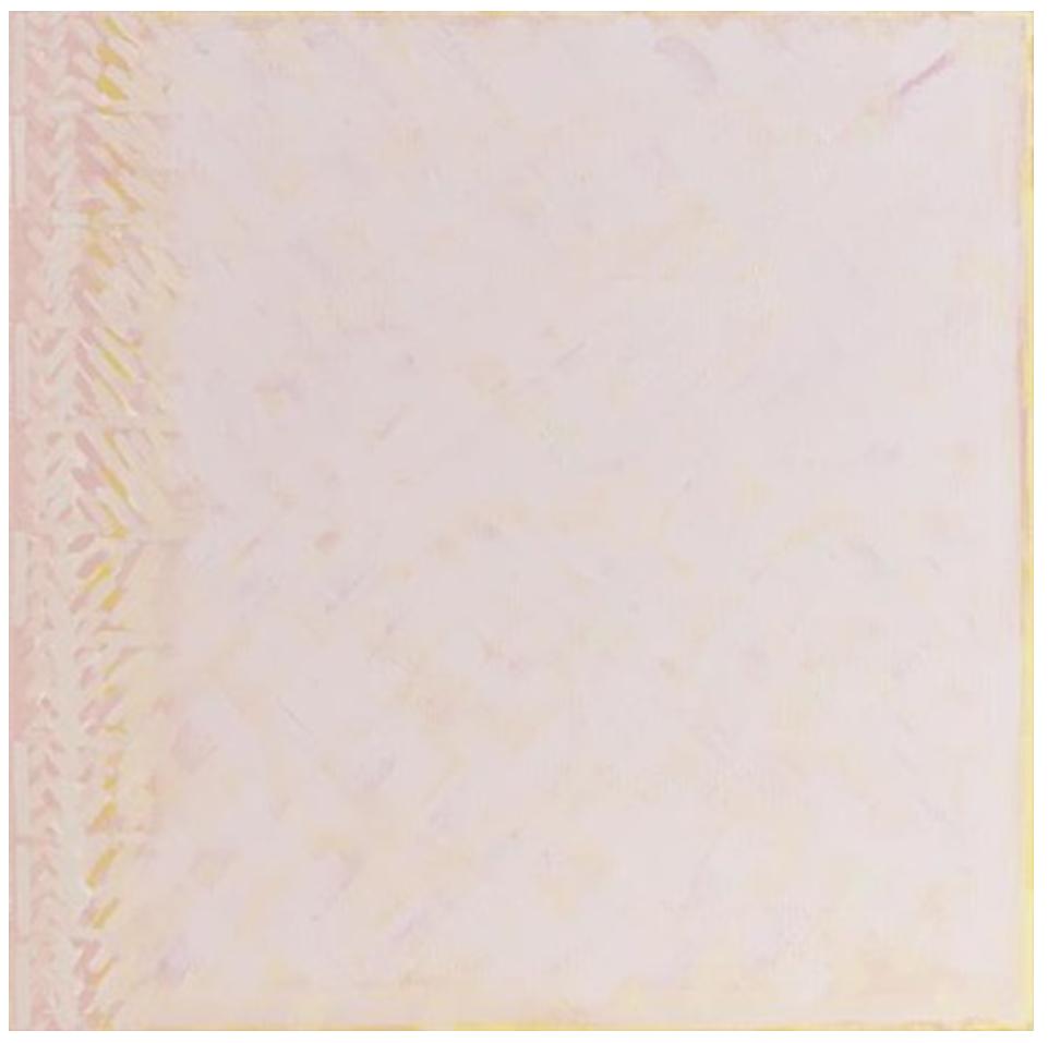"""Pink Desert Traditional materials, 1991. Oil on linen. 42""""x42"""""""