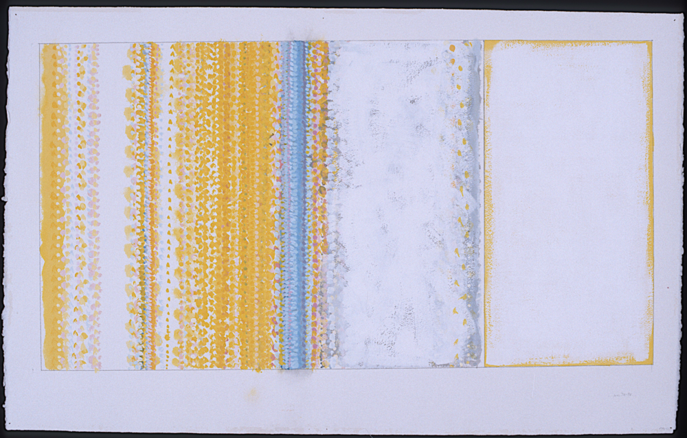 Study for Ghost. 1997. Gouache on Paper. 19 1-2 x 37 (28 1-4 x 43 1-2 framed)