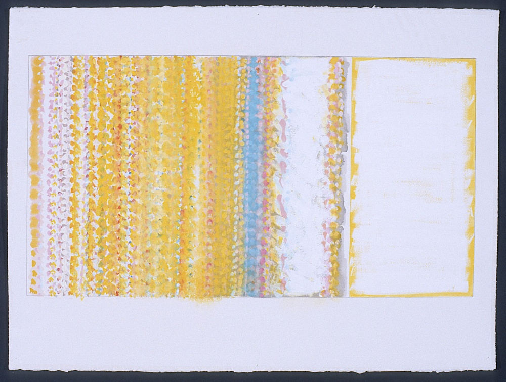"Study for Ghost, 1997, gouache on paper, 28 1/4""x43 1/2"" (framed)"