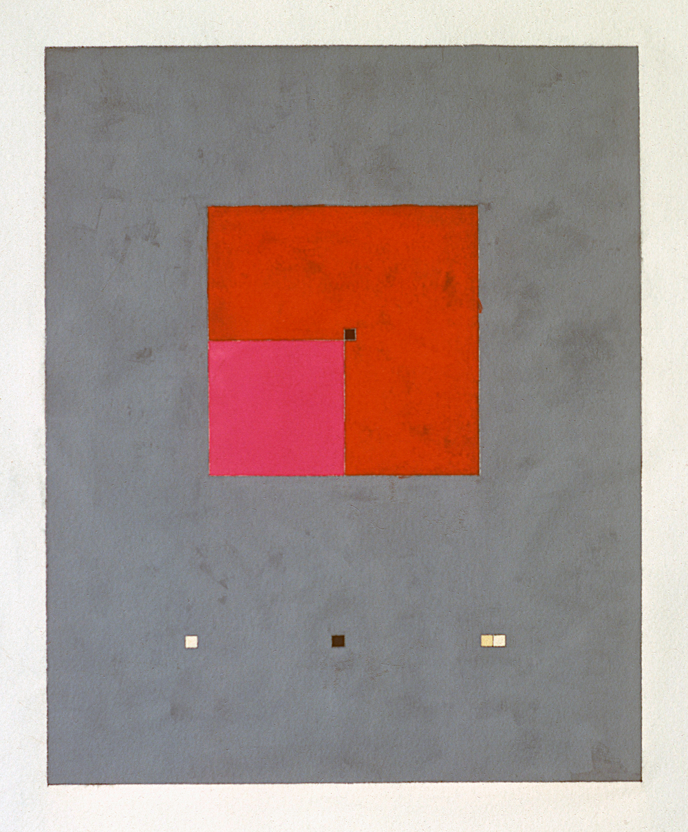 "Second Study, 1977. gouache on paper. 15""x12"""