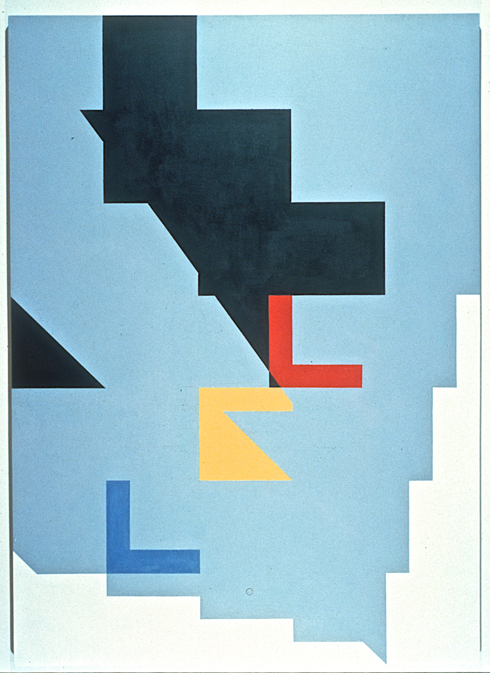 "Kesselrings Retreat, 1981. oil on linen. 55""x77"""