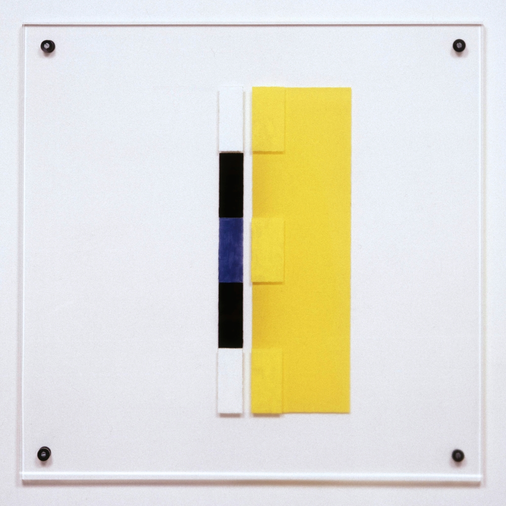 """Bremen, 1991, acrylic and vinyl on plexi, 23""""x23""""x1/2"""""""
