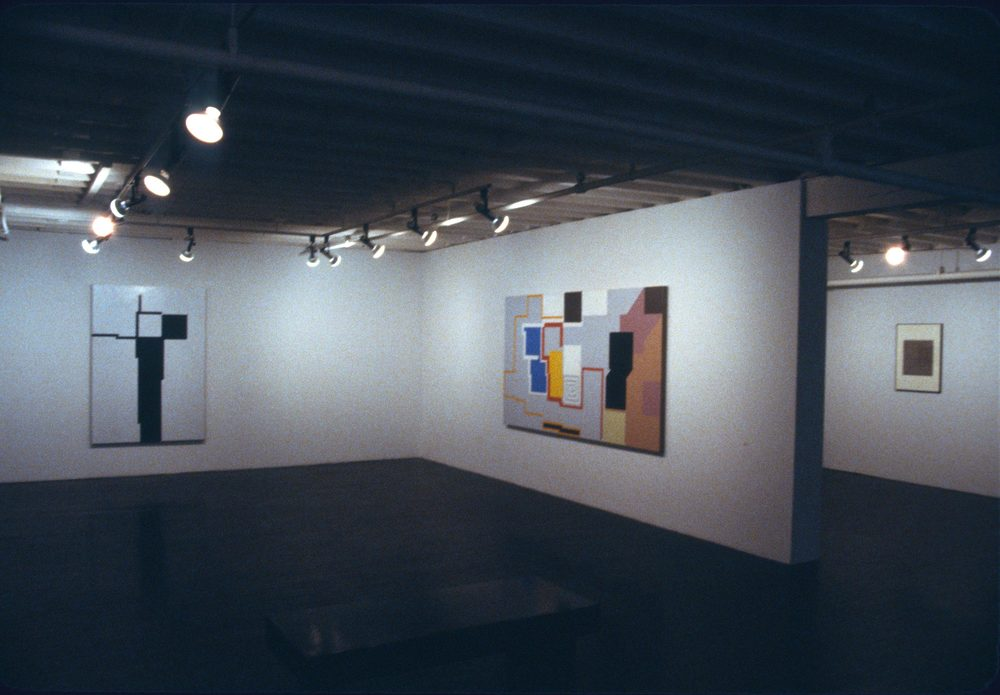 "1980. John Weber Gallery, New York. Installation photo ""Cross"" and ""Dutchman"""