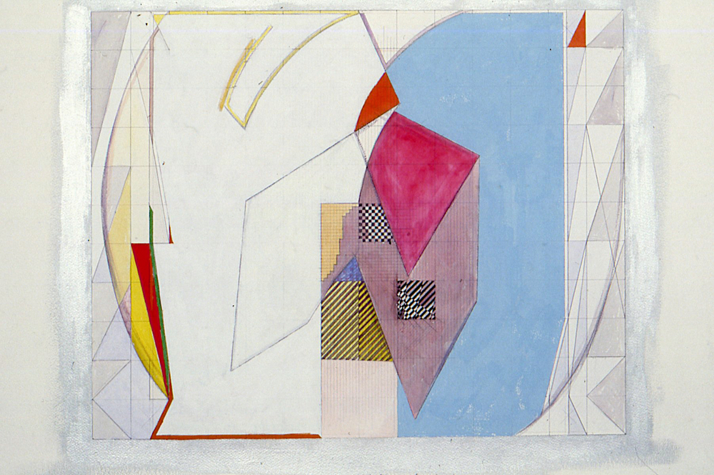 Study for Fresco, 1985. gouache on paper